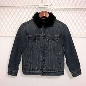 GAP Kids Faux Fur Lined Denim Jacket